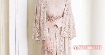 Baju Kebaya Brokat Modern Model Cape Soft Cream