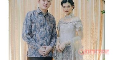 Baju Kebaya Couple Brokat Payet Transparan Soft Grey