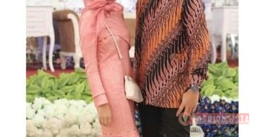 Baju Kebaya Couple Model Duyung Peach