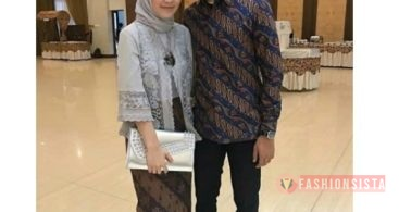 Baju Kebaya Couple Model Kutubaru Tradisional Grey