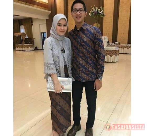 Baju Kebaya Kutubaru Couple Model Kutubaru Modern Grey
