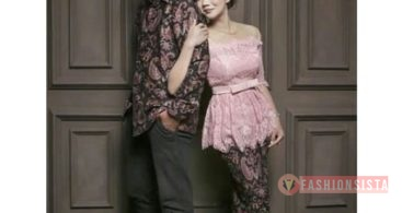 Model Baju Dress Kebaya Brokat Muslim Soft Moca