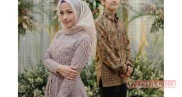 Baju Kebaya Couple Model Peplum Soft Grey