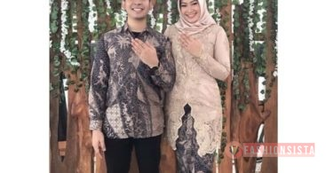 Baju Kebaya Couple Panjang Leher V Cream Soft