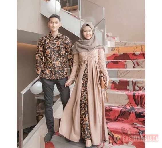 Kebaya Batik Couple Terbaru Model Dress Kombinasi Batik