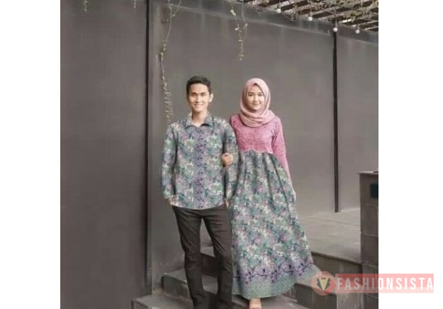 Kebaya Batik Couple Terbaru Model Dress Pink