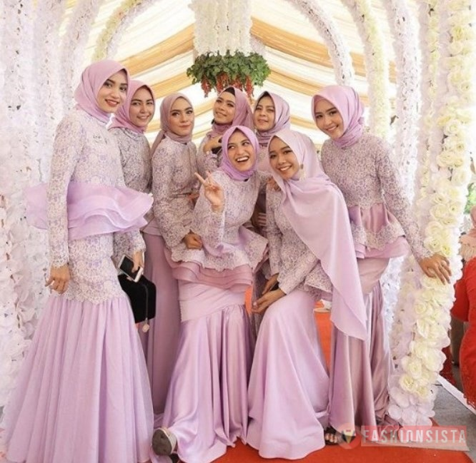 Model Baju Dress Kebaya Brokat Muslim Model Peplum
