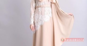 Model Baju Dress Kebaya Brokat Muslim Soft Cream