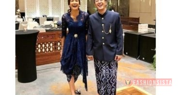 Baju Kebaya Couple Model Peplum Silver