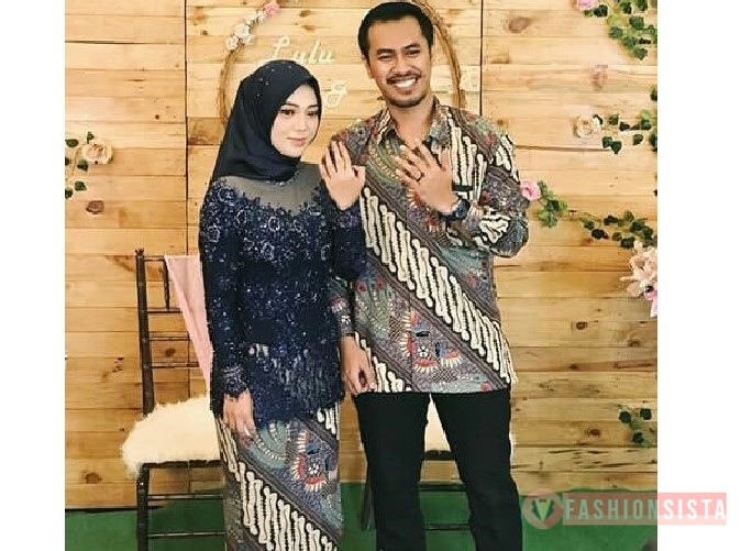 Model Baju Kebaya Couple Panjang Navy