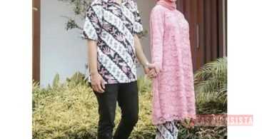 Model Baju Kebaya Couple Panjang Pink