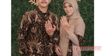 Model Baju Kebaya Couple Selendang Batik Cream