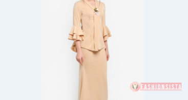 Model Kebaya Modern Klasik Full Peach