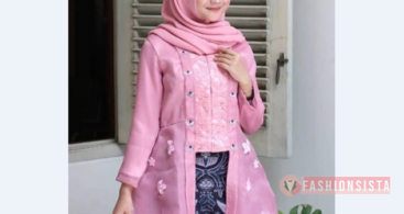 Baju Kebaya Brokat Modern Model Cape Dusty Purple