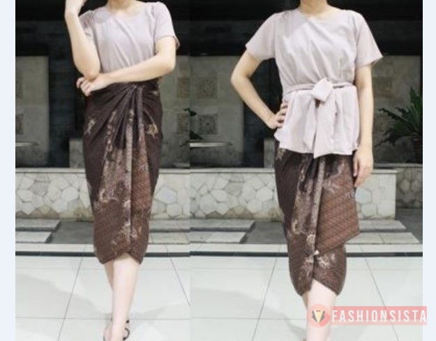 Model Kebaya Modern Sederhana Bahan Katun Kaos Simple