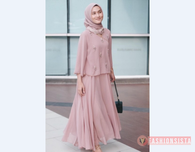 Model Baju Pesta Sederhana Simple Modern Sederhana Dress Pink Longgar