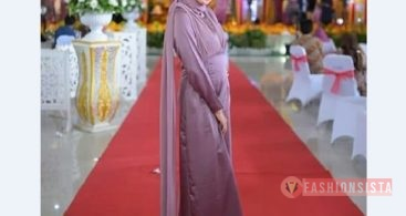 Model Baju Dress Kebaya Brokat Muslim Lavender Model Duyung