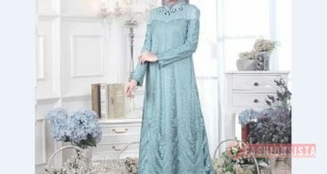Model Kebaya Muslim Dress Peplum Krem Muda