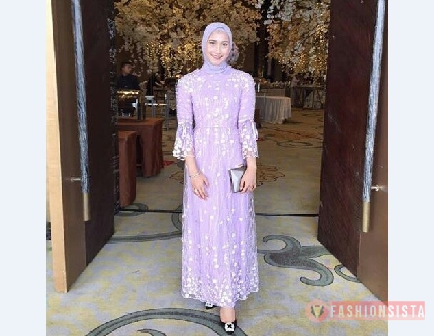 Model Kebaya Muslim Dress Lengan Terompet
