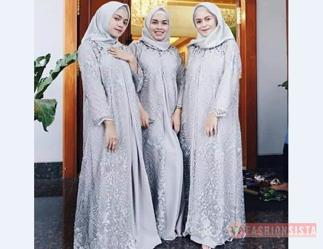Model Baju Modern Terbaru, Model Kebaya Muslim Dress Silver 3  .