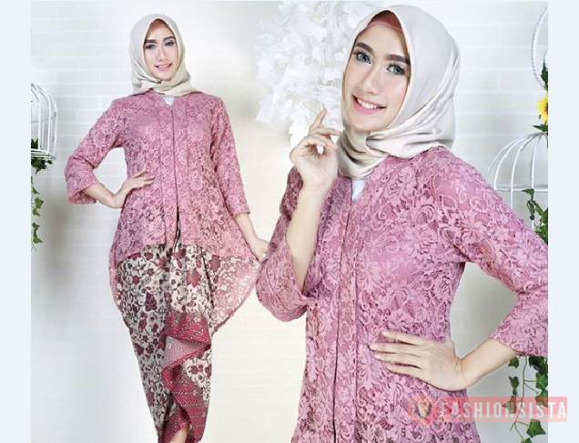 Model Kebaya Kutubaru Modern Hijab Blouse Dusty Purple