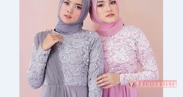 Model Kebaya Modern Panjang Soft Puple