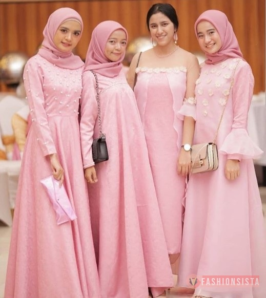 Model Dress Kebaya Bahan Embos