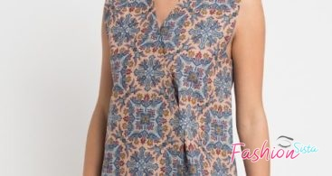 Mini Dress Batik Modern Batik Wanita Simple