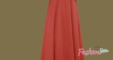 Model Gamis Pesta Orange Hitam Polos Kombinasi