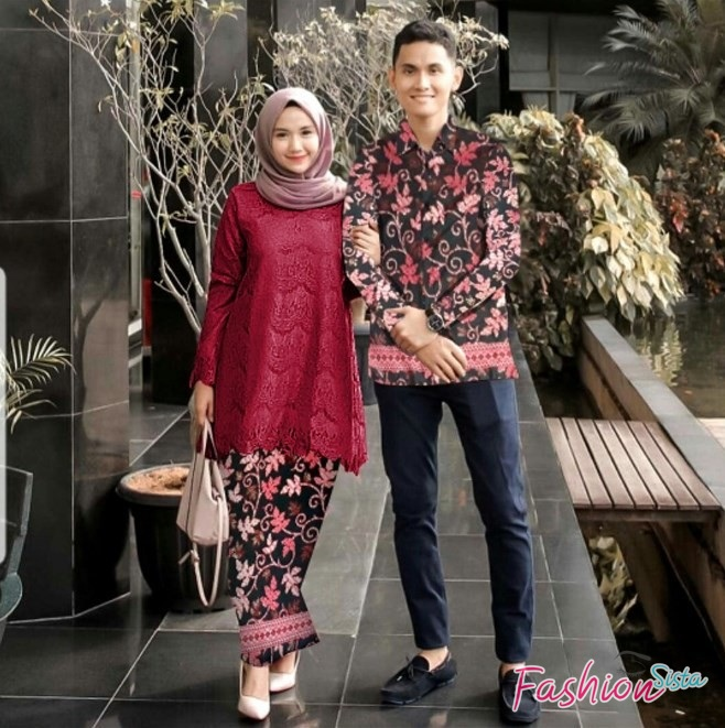 Baju batik couple brokat
