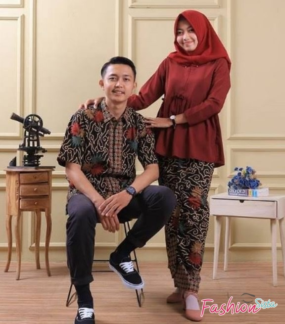 Batik couple kombinasi brokat