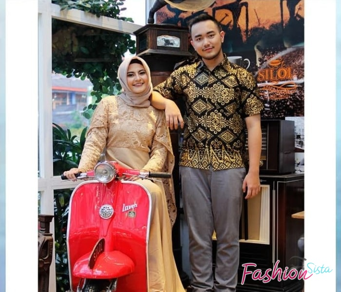 Batik couple sarimbit brokat