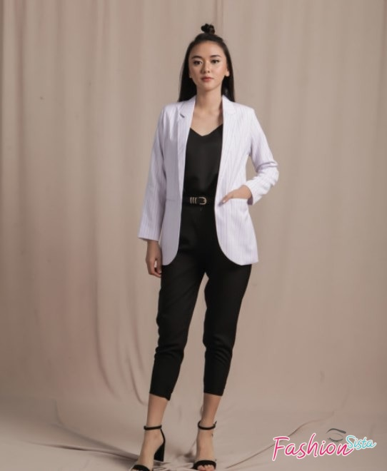Blazer wanita model waist length