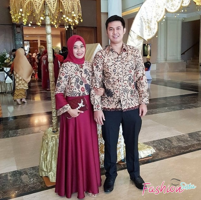 Gamis batik couple simple