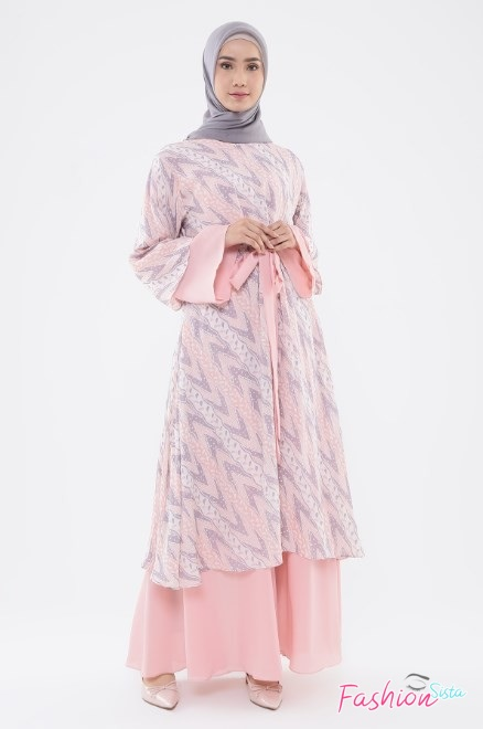 Gaun baju batik long dress anak muda