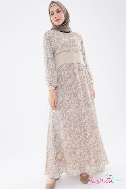 Gaun baju batik long dress muslim