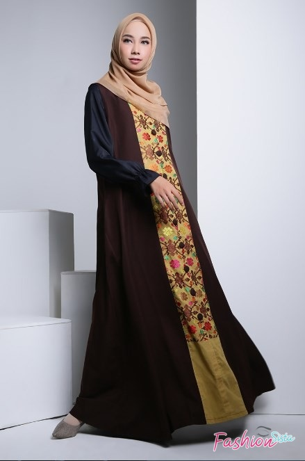 Gaun baju batik long dress remaja