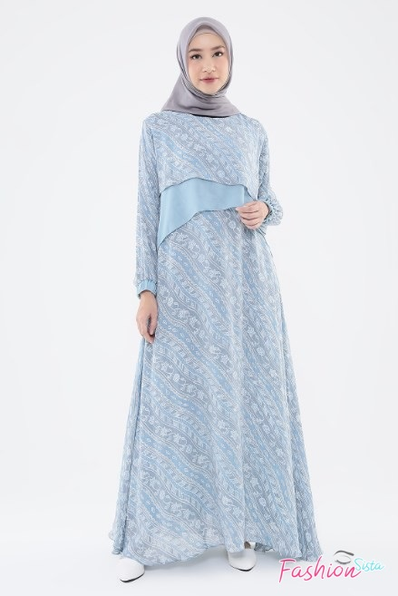 Gaun baju batik long dress