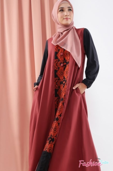 Mode gaun batik long dress