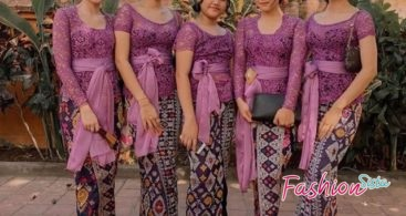 Model Kebaya Kutubaru Anak Sabrina Warna Dusty Pink