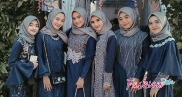 Model Baju Kebaya Brokat Kombinasi Satin Dress Muslim Terbaru