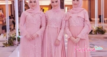 Baju Kebaya Couple Peplum Bahan Organza Soft Cream