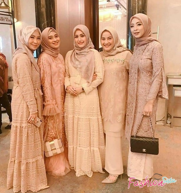 Model Baju Kebaya Brokat Muslim Dress Rok Ruffle Kekinian