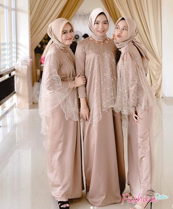 Model Baju Kebaya Brokat Muslim Modern Model Cape