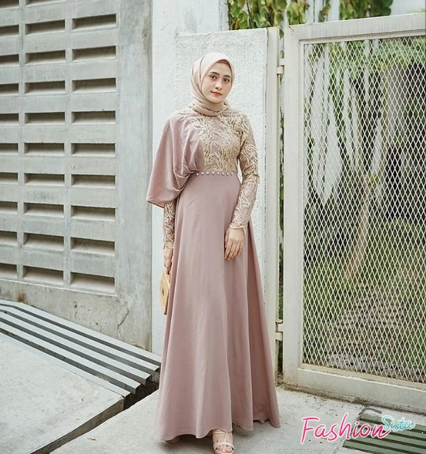 Model Baju Kebaya Brokat Terbaru Hijab Simple Soft Purple