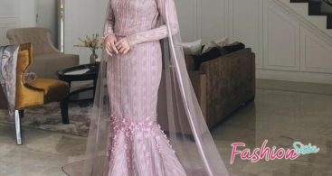 Model Baju Kebaya Brokat Muslim Dress Cantik Cream