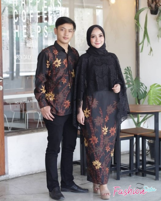 Model baju batik couple simple elegan terbaik
