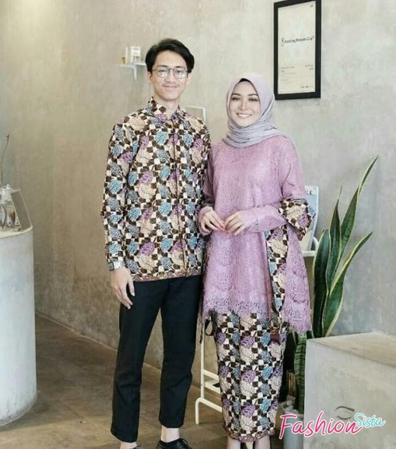 Model baju batik couple simple elegan
