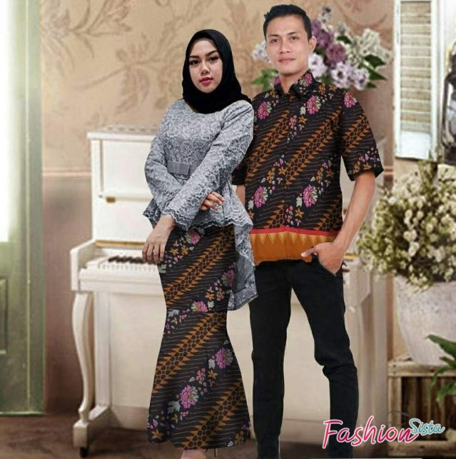 Model batik couple simple cantik