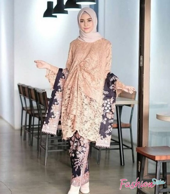 Fashion Hijab Terbaru 2020, Model Baju Muslim Batik Pesta  .